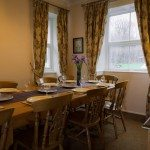 Dining at Briery House, self catering group accommodation in the Lake District