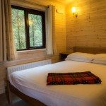 Double bedroom at Low Briery log cabins in the Lake District