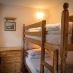 Bunk bedroom at Low Briery holiday cottages in the Lake District