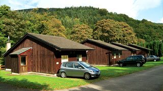Timber lodges in the Lake District