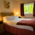 Double bedroom at Low Briery holiday lodges in the Lake District