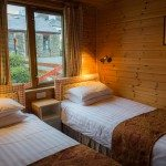 Twin bedroom at Low Briery holiday lodges in the Lake District