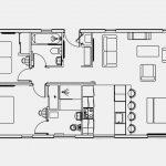 Pathfinder Retreat Lodge floor plan - 40x20ft 2 bedroom