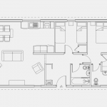 Floor plan for the Pathfinder The Tor 42x20ft 2 bed Lodge